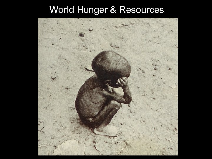 World Hunger & Resources
