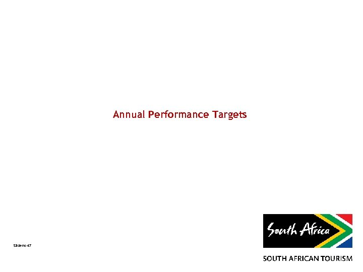 Annual Performance Targets Slide no 47