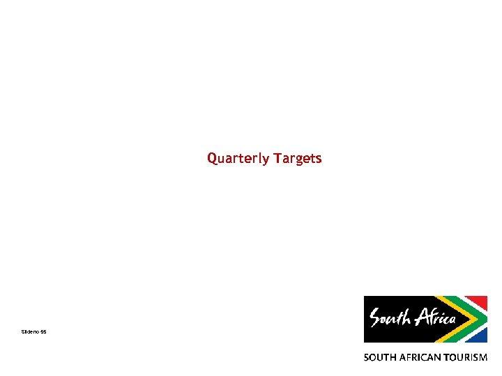 Quarterly Targets Slide no 55