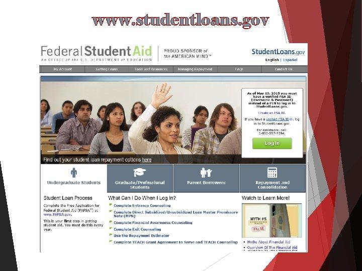 www. studentloans. gov