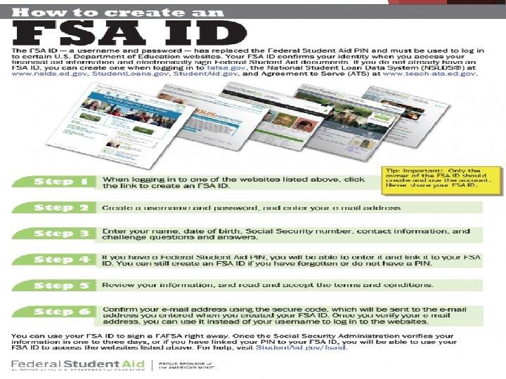 Fafsa info FSA ID change