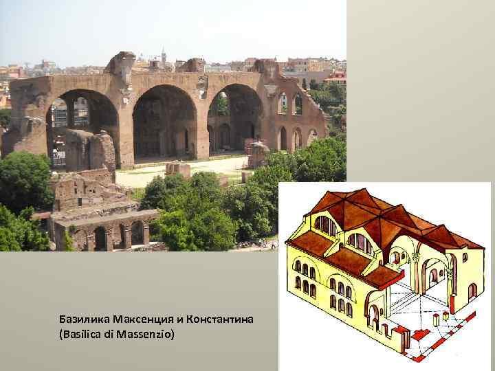 Базилика Максенция и Константина (Basilica di Massenzio)