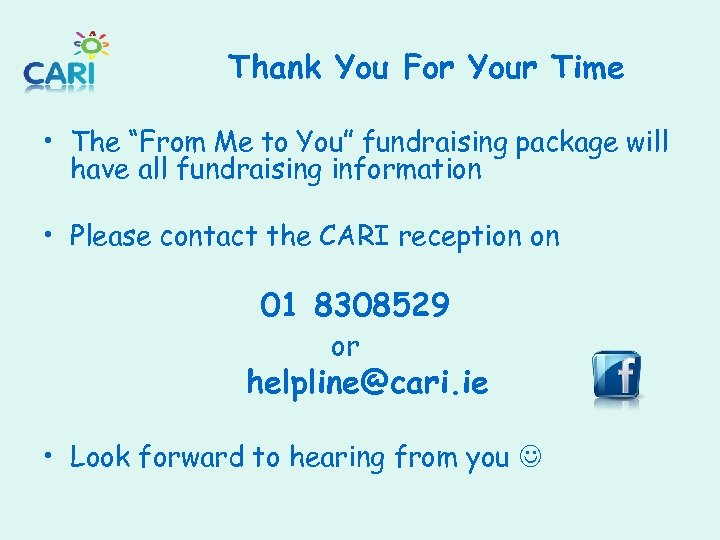 """Thank You For Your Time • The """"From Me to You"""" fundraising package will"""