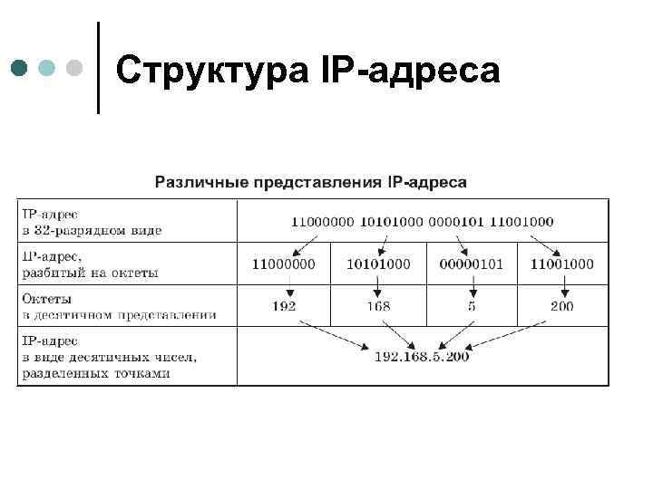 Структура IP-адреса