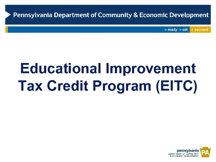 Educational Improvement Tax Credit Program (EITC)