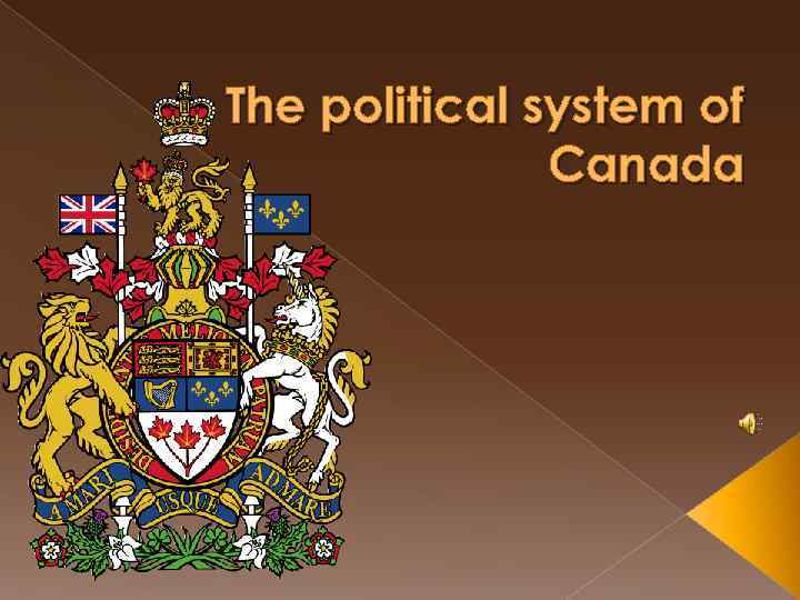 The political system of Canada