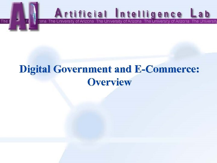 Digital Government and E-Commerce: Overview