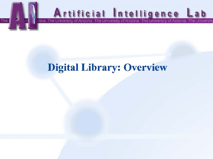 Digital Library: Overview