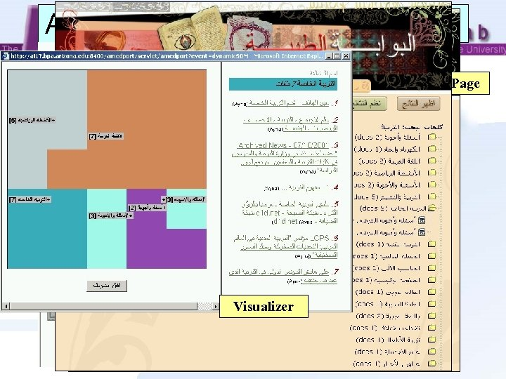 Arabic Medical Intelligence Portal Search Page Result Page Categorizer Provides a virtual Arabic keyboard