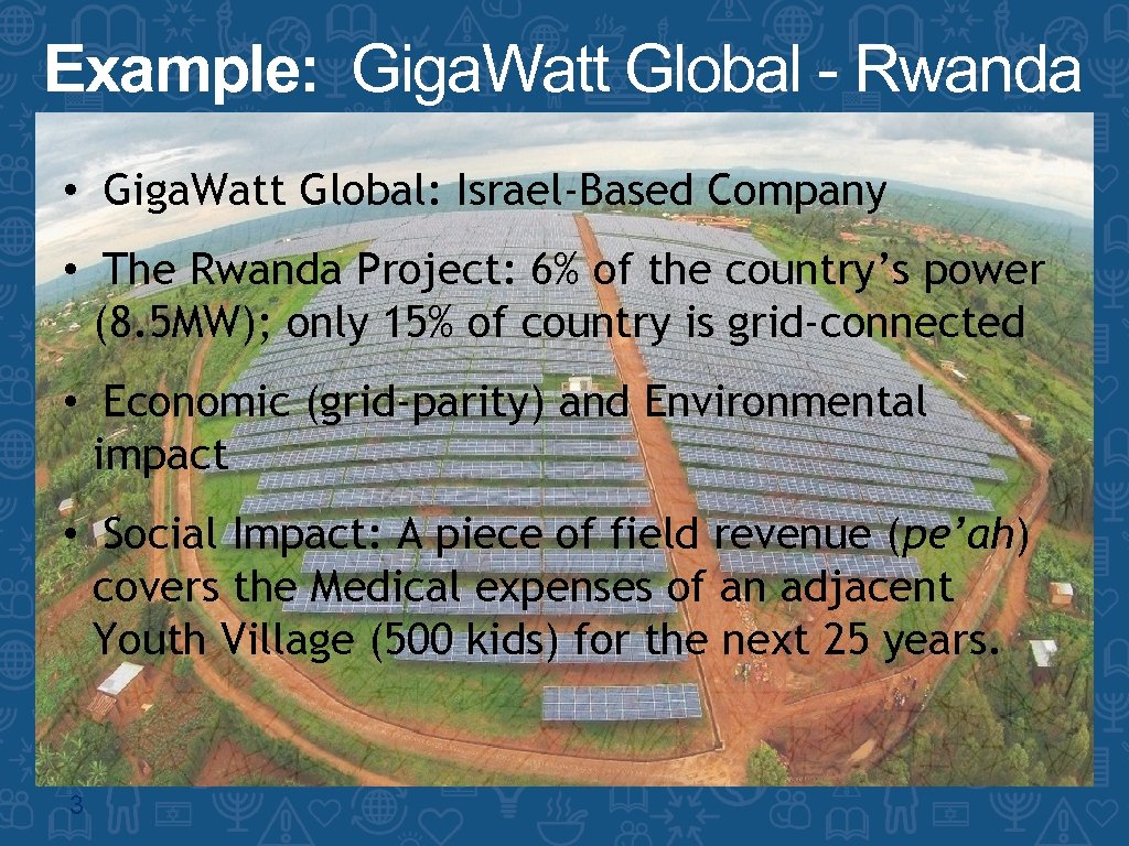 Example: Giga. Watt Global - Rwanda • Giga. Watt Global: Israel-Based Company • The