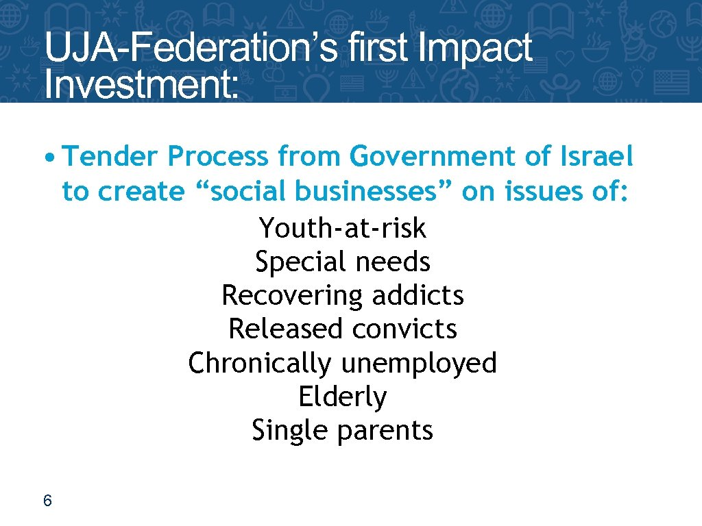 UJA-Federation's first Impact Investment: The Yozma Fund • Tender Process from Government of Israel