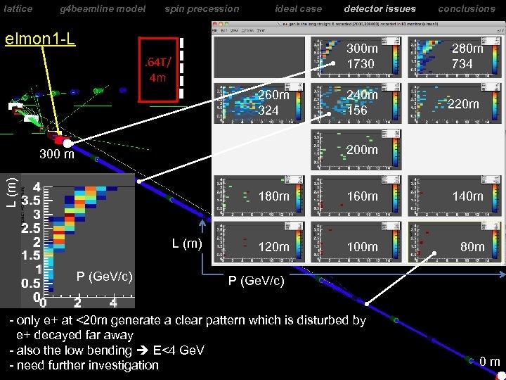 lattice g 4 beamline model spin precession ideal case elmon 1 -L detector issues