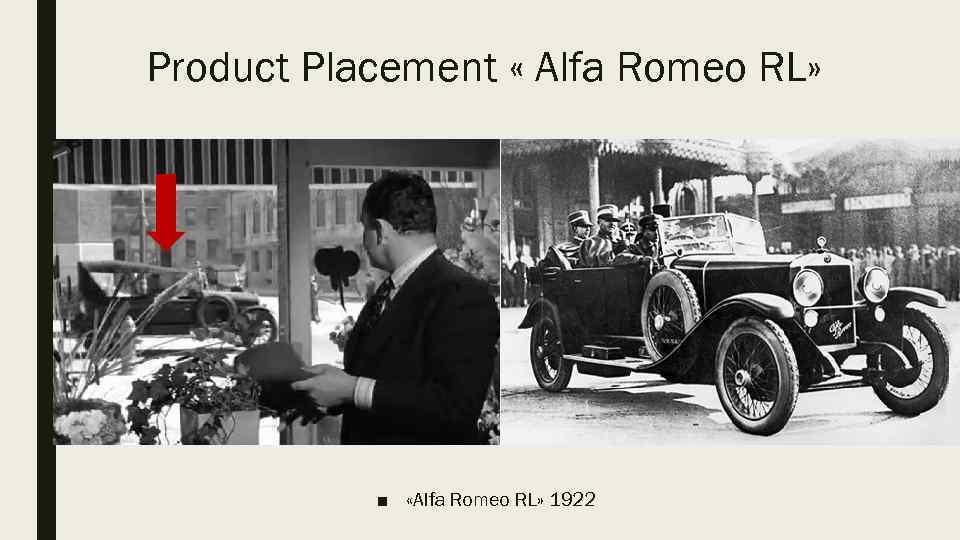 Product Placement « Alfa Romeo RL» ■ «Alfa Romeo RL» 1922