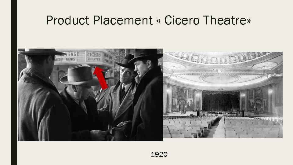 Product Placement « Cicero Theatre» 1920