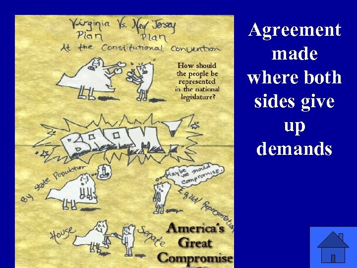 Agreement made where both sides give up demands