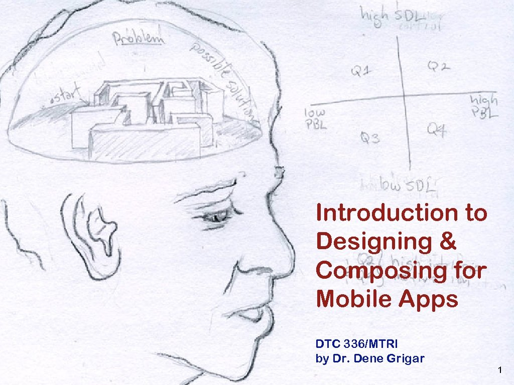Introduction to Designing & Composing for Mobile Apps DTC 336/MTRI by Dr. Dene Grigar