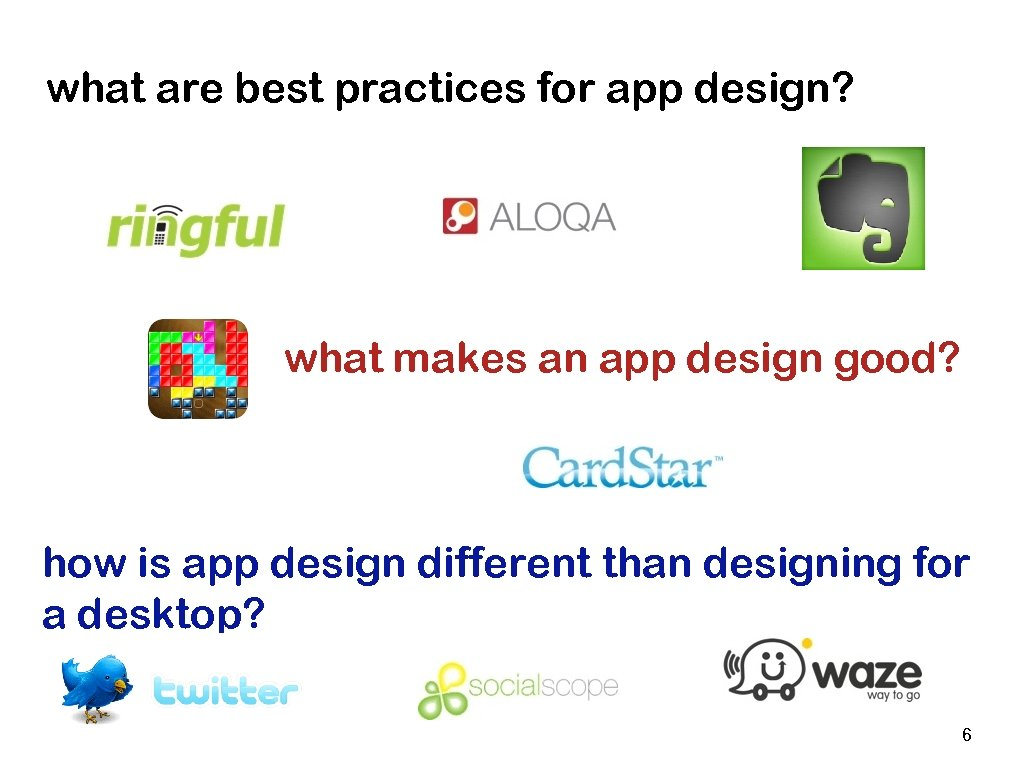 what are best practices for app design? what makes an app design good? how