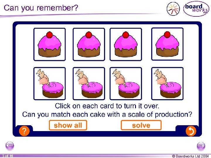 Can you remember? 3 of 16 © Boardworks Ltd 2004