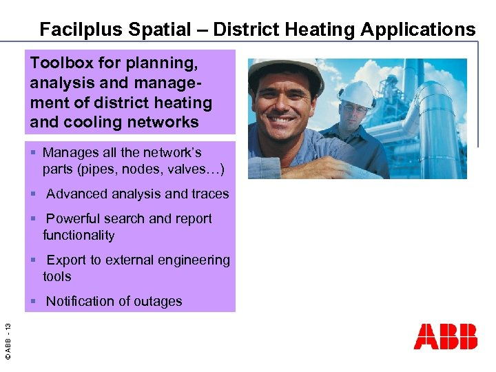 Facilplus Spatial – District Heating Applications Toolbox for planning, analysis and management of district