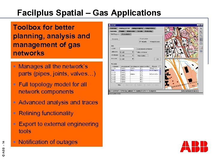 Facilplus Spatial – Gas Applications Toolbox for better planning, analysis and management of gas