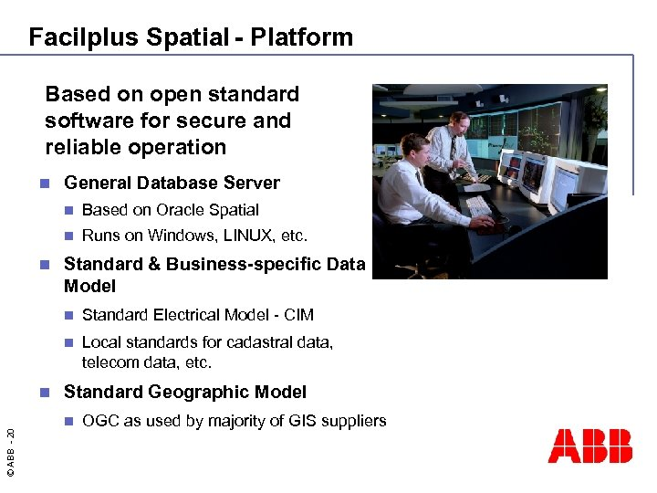 Facilplus Spatial - Platform Based on open standard software for secure and reliable operation