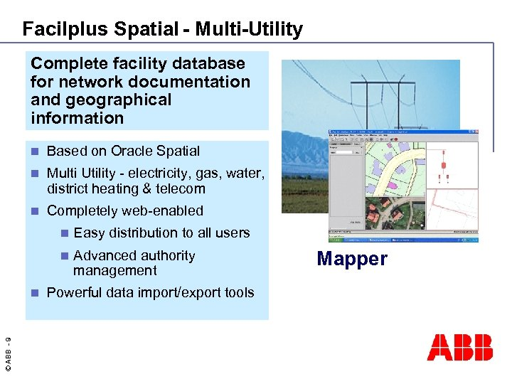 Facilplus Spatial - Multi-Utility Complete facility database for network documentation and geographical information n