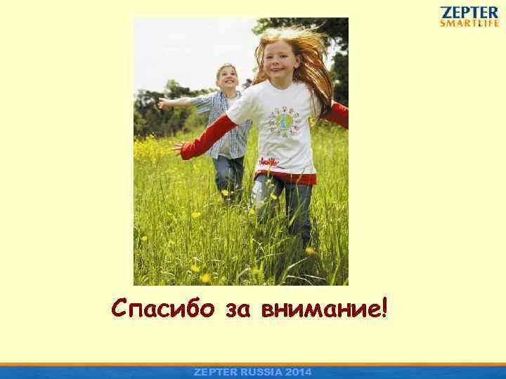 Спасибо за внимание! ZEPTER RUSSIA 2014
