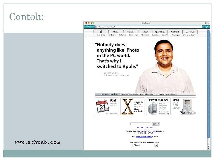 Contoh: www. schwab. com