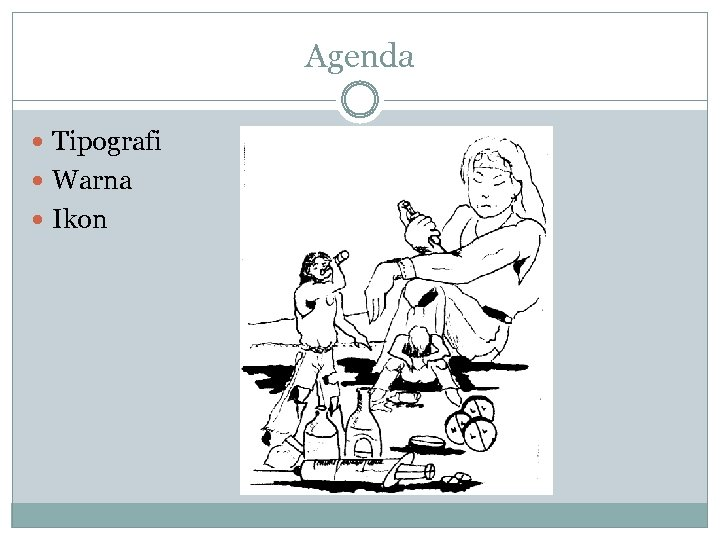 Agenda Tipografi Warna Ikon