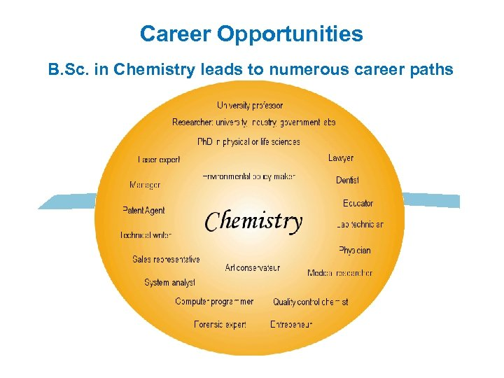 Career Opportunities B. Sc. in Chemistry leads to numerous career paths