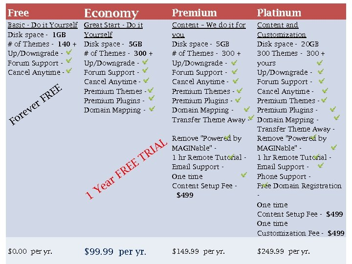 Free Economy Premium Platinum Basic - Do it Yourself Disk space - 1 GB