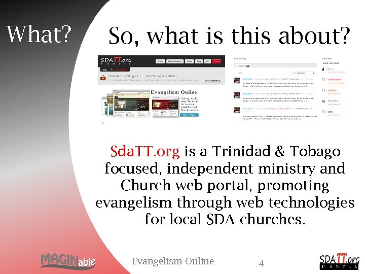 What? So, what is this about? Sda. TT. org is a Trinidad & Tobago