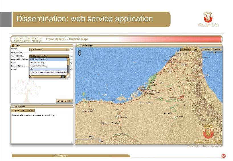 Dissemination: web service application 16