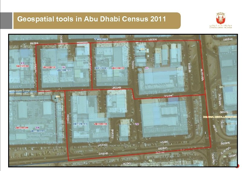Geospatial tools in Abu Dhabi Census 2011 GIS – Defining the Census working areas