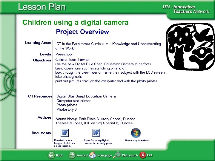 Children using a digital camera Project Overview Learning Areas Levels Objectives ICT Resources Authors