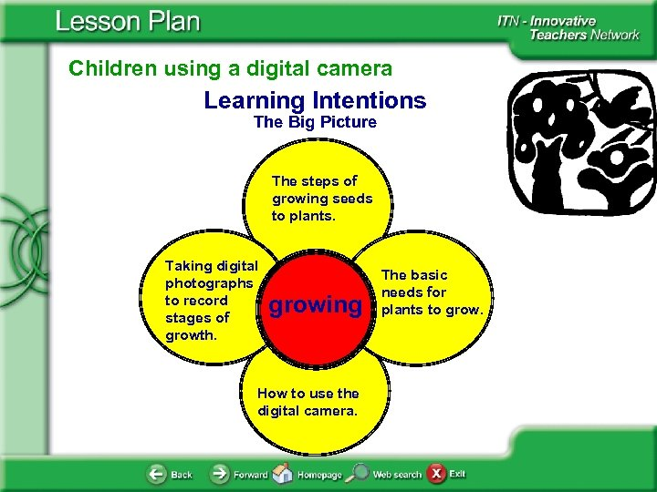 Children using a digital camera Learning Intentions The Big Picture The steps of growing