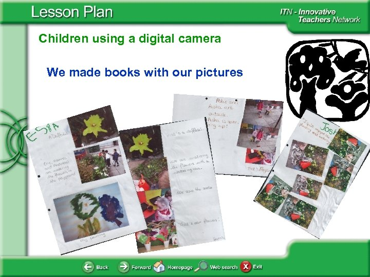 Children using a digital camera We made books with our pictures