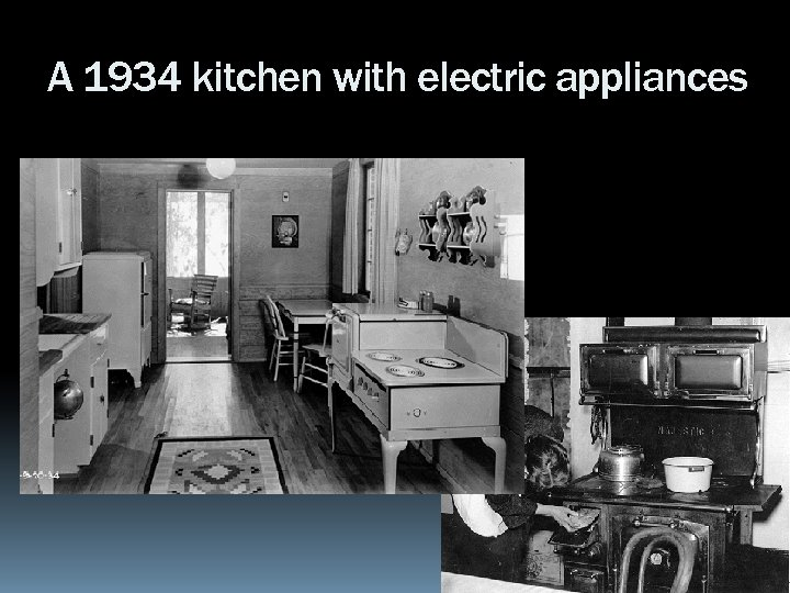 A 1934 kitchen with electric appliances