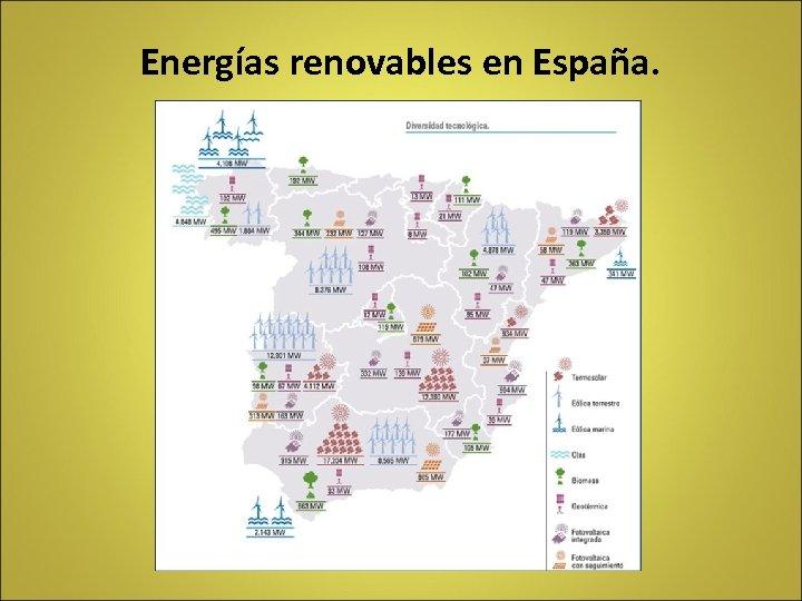 Energías renovables en España.