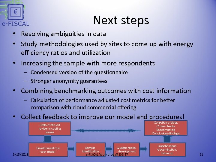 Next steps • Resolving ambiguities in data • Study methodologies used by sites to