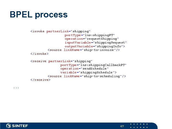 BPEL process <invoke partner. Link=