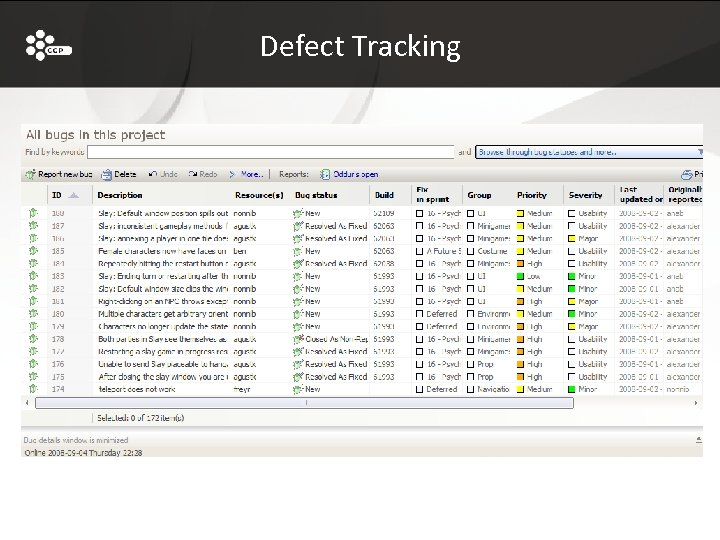 Defect Tracking