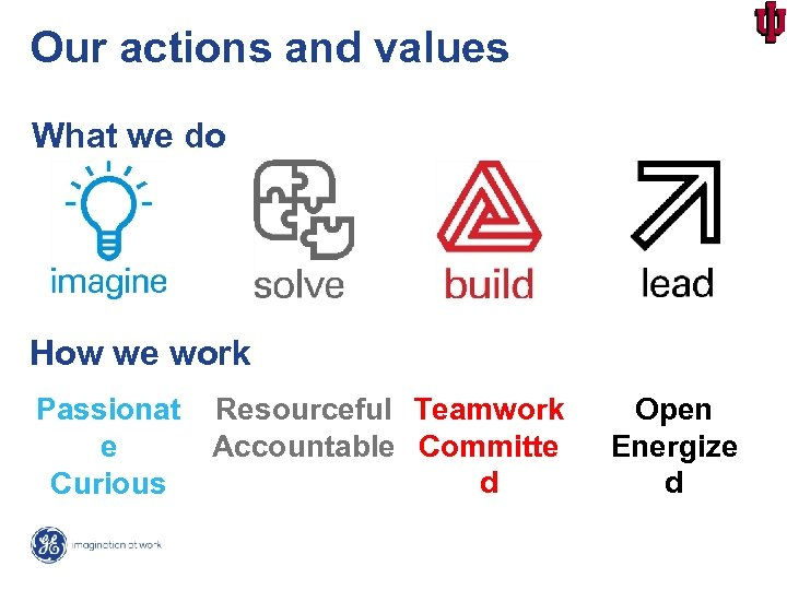 Our actions and values What we do How we work Passionat e Curious Resourceful
