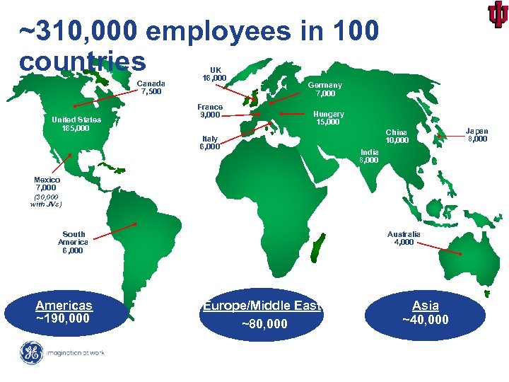 ~310, 000 employees in 100 countries Canada 7, 500 United States 165, 000 UK