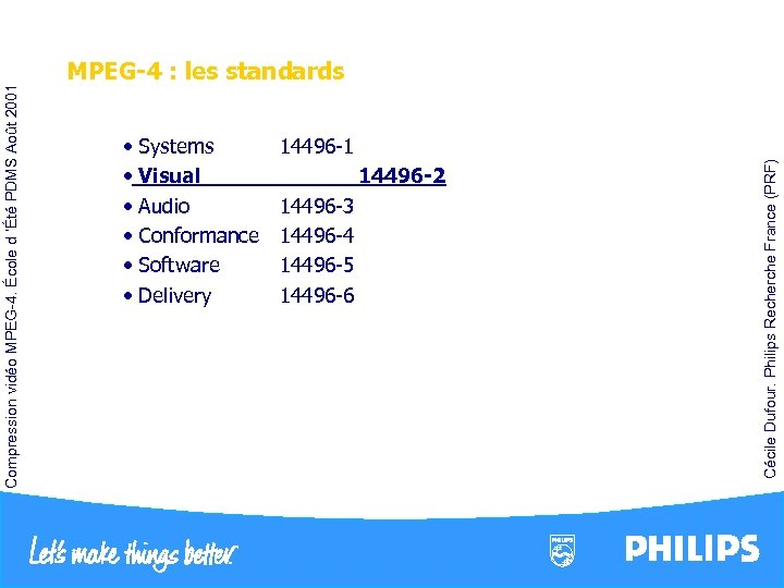 14496 -1 • Systems • Visual • Audio • Conformance • Software • Delivery