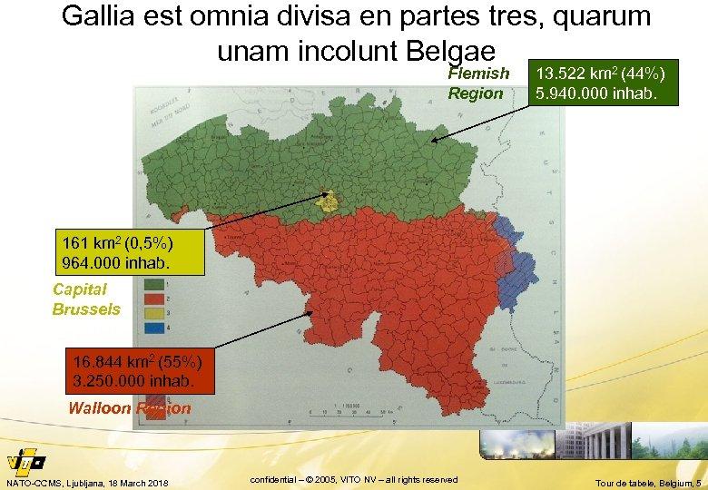 Gallia est omnia divisa en partes tres, quarum unam incolunt Belgae Flemish Region 13.