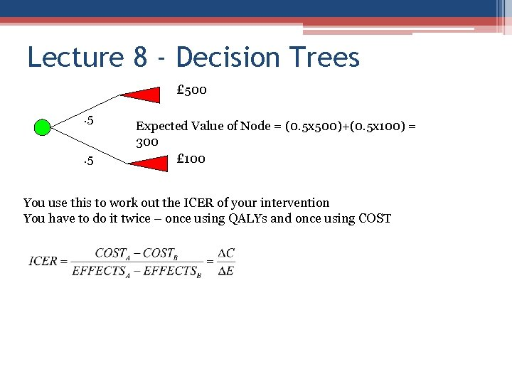 Lecture 8 - Decision Trees £ 500. 5. 5 Expected Value of Node =