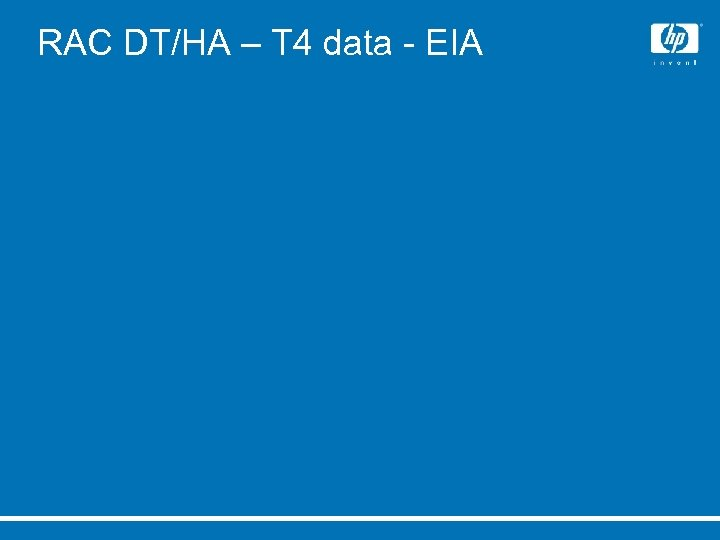RAC DT/HA – T 4 data - EIA