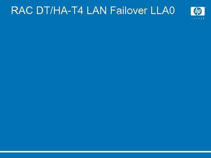 RAC DT/HA-T 4 LAN Failover LLA 0