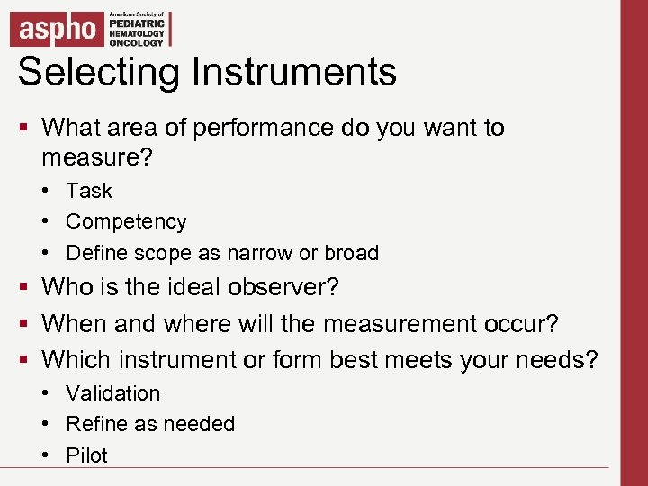 Selecting Instruments Click to edit Master title style § What areaedit Master textyou want